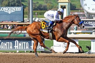 Justify Steps Up To Give Baffert His Eighth Santa Anita