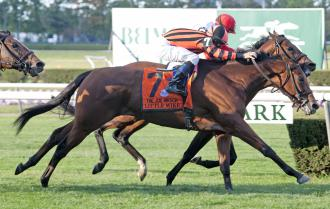 Joe Hirsch Turf Classic Little Mike Noses Out Big Blue