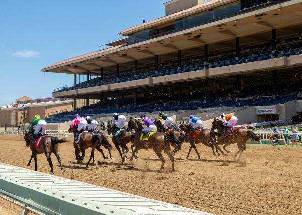 Del Mar opening day 2020, no fans