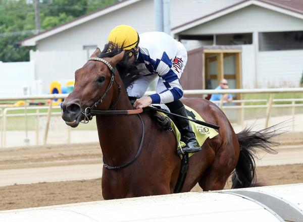 Myopic wins a June 23 maiden race at Indiana Grand