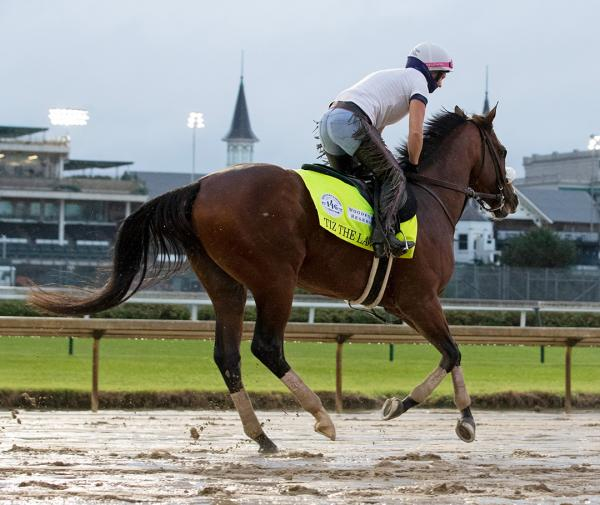 Tiz the Law trains at Churchill on Sept. 2