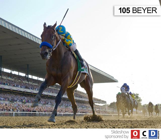 American Pharoah wins the Belmont Stakes