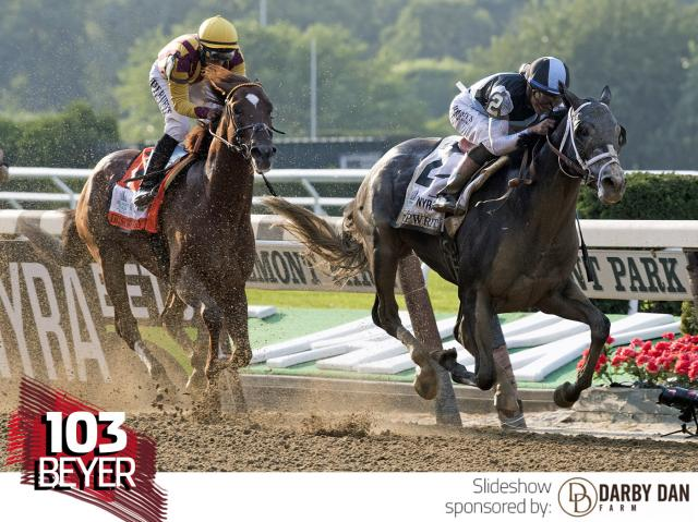 Tapwrit wins the Belmont Stakes