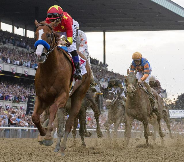 Justify wins the Belmont Stakes