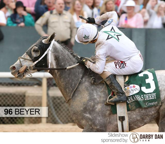 Creator wins the Arkansas Derby