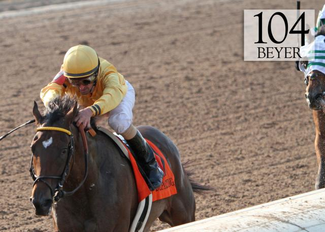 Departing wins the Super Derby