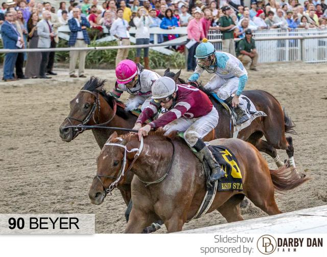 Gun Runner wins the Risen Star