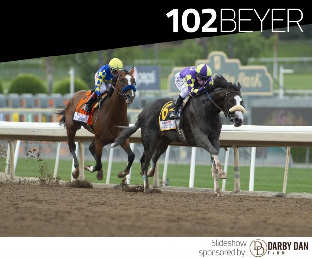 Honor A. P. wins the Santa Anita Derby