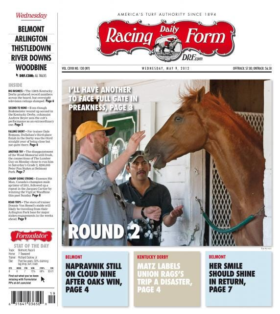 DRF cover, I'll Have Another, May 9, 2012