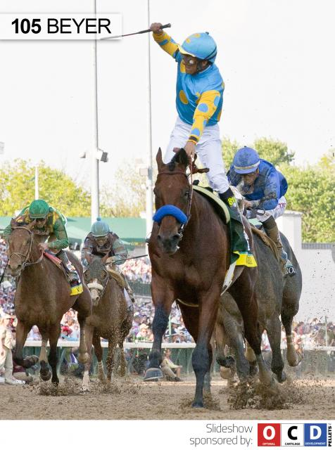 American Pharoah wins the Kentucky Derby