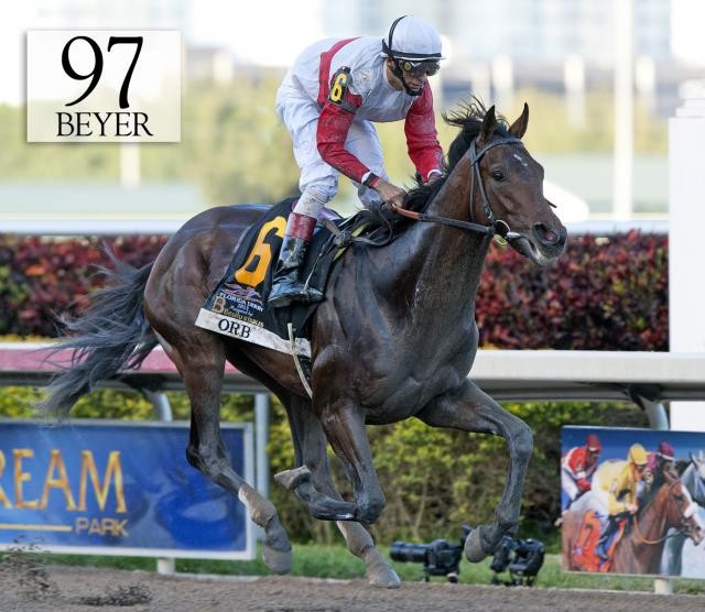 Orb wins the Florida Derby