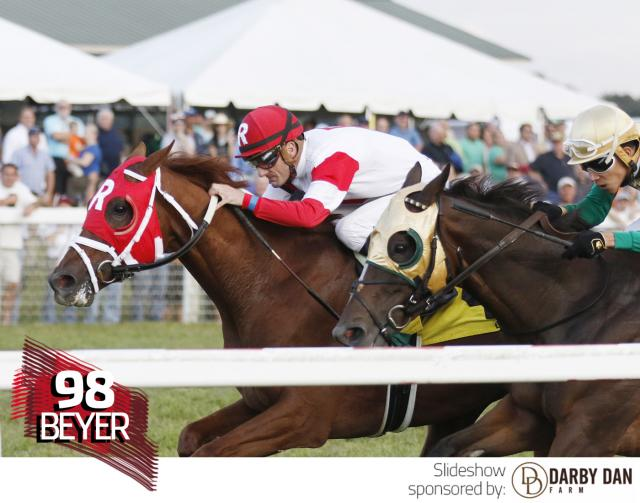 Oscar Nominated wins the Kentucky Turf Cup