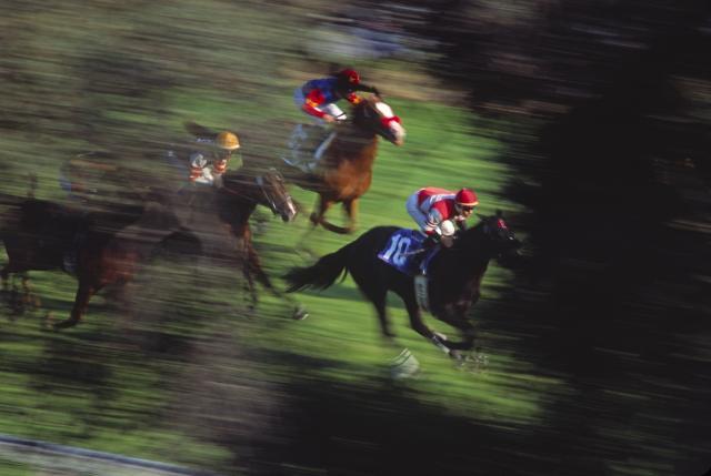 Santa Anita's downhill turf chute