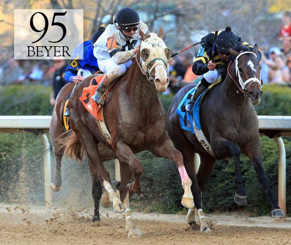 Will Take Charge - Rebel Stakes - BEYER