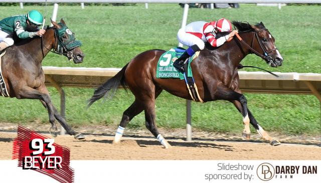 Songbird wins the Delaware Handicap