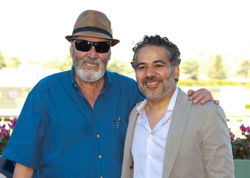 Trainer Julio Canani and actor John Ortiz