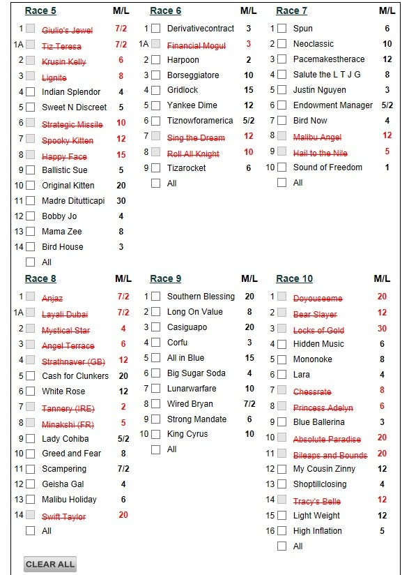 Saratoga Day 40: September 2, 2013   Daily Racing Form