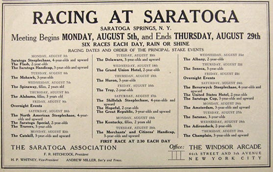 Saratoga Day  August    Daily Racing Form