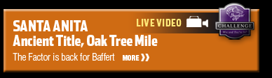 Santa Anita Ancient Title, Oak Tree Mile