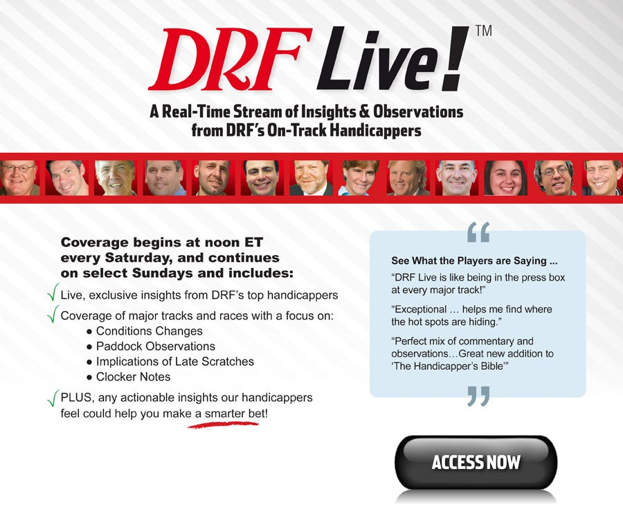 DRF Live! Learn More | Daily Racing Form